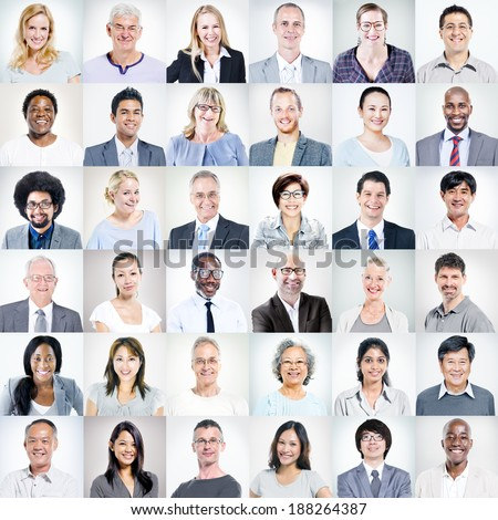 Group of Multiethnic Diverse Business People - stock photo