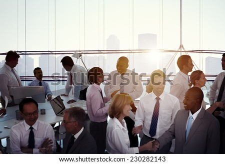 Group of Multiethnic Diverse Busy Business People - stock photo
