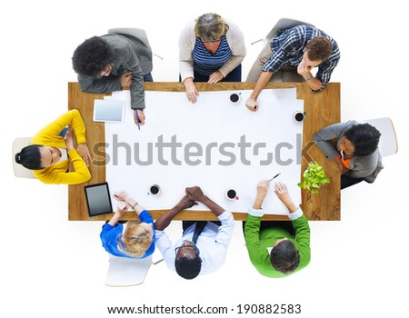 Group of Multiethnic People Planning a New Project - stock photo