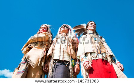 Group of North American Indians - stock photo