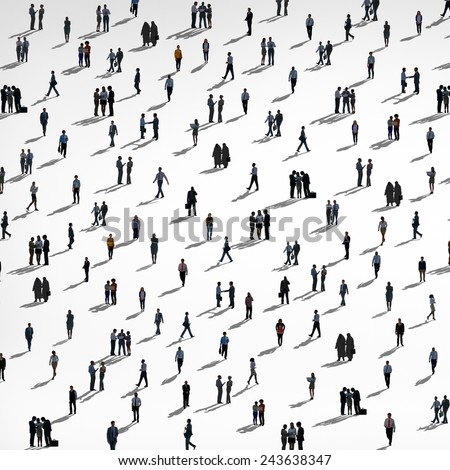 Group of People Diversity Crowd Business People Concept - stock photo