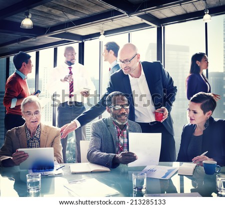 Group of People have a Meeting in the Office - stock photo