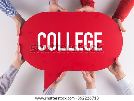 Group of People Message Talking Communication COLLEGE Concept - stock photo