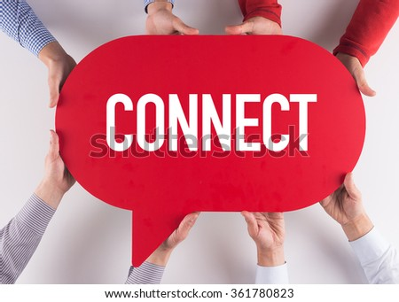 Group of People Message Talking Communication CONNECT Concept - stock photo