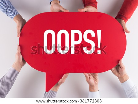 Group of People Message Talking Communication OOPS! Concept - stock photo