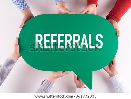 Group of People Message Talking Communication REFERRALS Concept - stock photo
