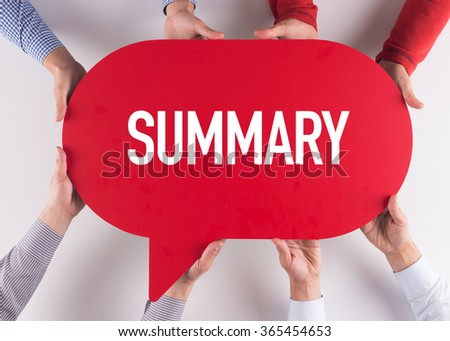 Group of People Message Talking Communication SUMMARY Concept - stock photo