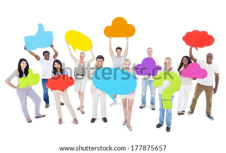 Group of People Sharing Ideas - stock photo