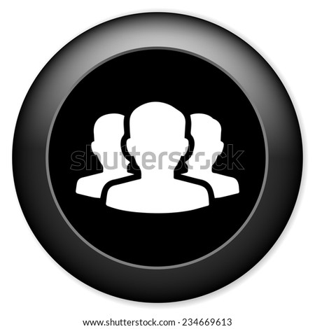 Group of people sign icon. Share symbol - stock photo