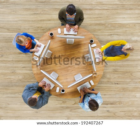Group of People Social Networking Communication - stock photo