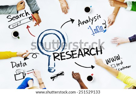 Group of People with Research Concept - stock photo