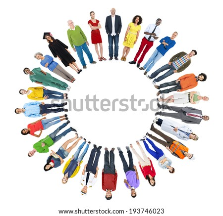 Group of People with Various Concept - stock photo