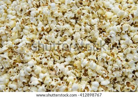 Group of popcorn background - stock photo