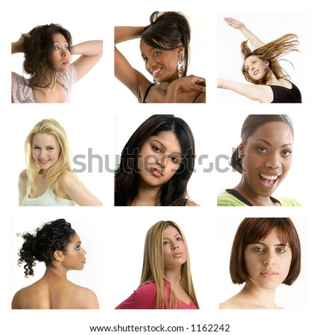 Group of pretty girls - more examples in my portfolio - stock photo