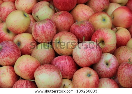 Group of red apples. - stock photo