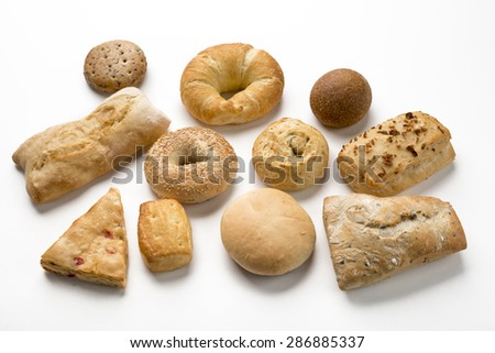 Group of rustic breads - stock photo