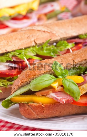 group of sandwiches - stock photo