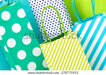 Group of shopping bags background - stock photo