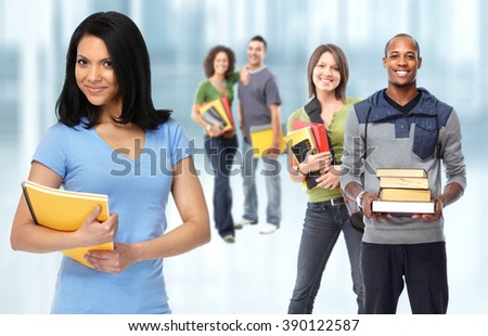 Group of students. - stock photo