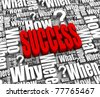 Group of success related 3D words. Part of a series. - stock photo