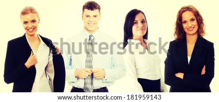 Group of successful business people isolated on white.  - stock photo