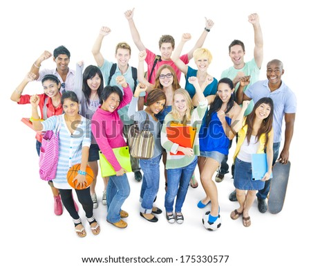 Group of University Students - stock photo