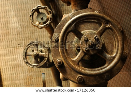 group of valves - stock photo