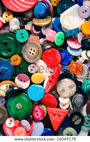 Group of vintage buttons - stock photo