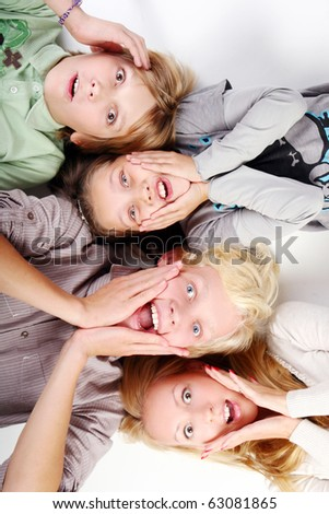 group of young and beautiful boys and girls - stock photo
