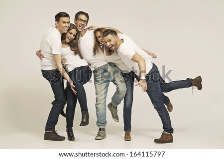 Group of young friends - stock photo