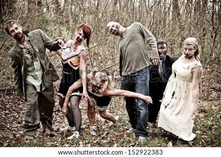 Group of Zombies - stock photo