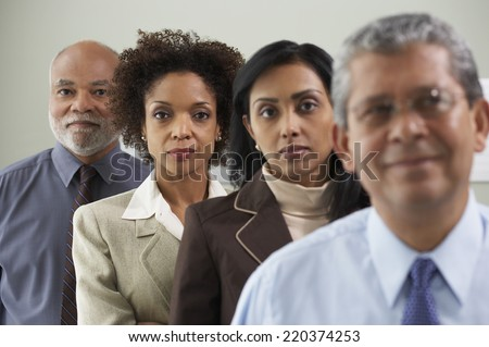 Group portrait of businesspeople - stock photo