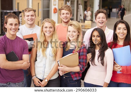 Group Portrait Of College Students - stock photo