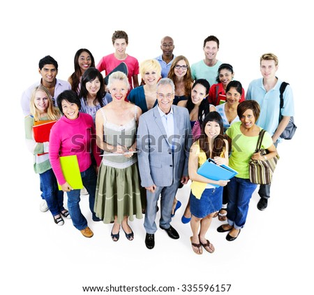 Group Student University College Learning Knowledge Concept - stock photo