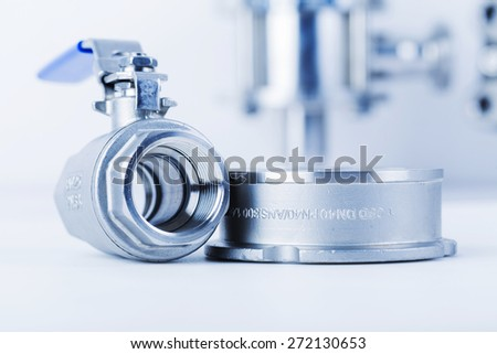 Group 2 valves, disco Type Check Valves and Butterfly Valves. - stock photo