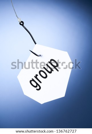 group word on hook - stock photo