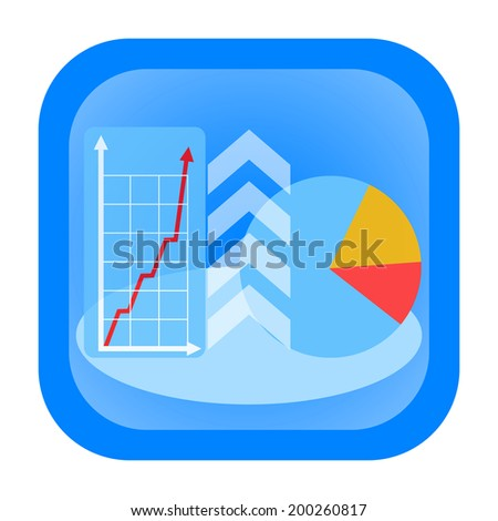 Growing business graph and successful result icon - stock photo