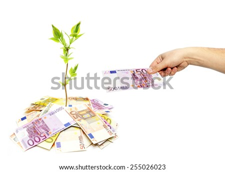 Growing money concept - stock photo