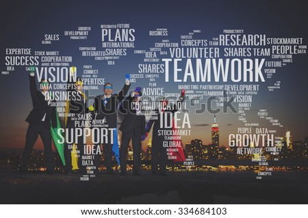 Growth Communication Productivity Research Future Concept - stock photo