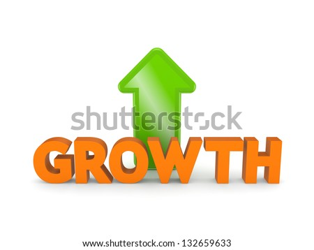 Growth concept.Isolated on white background.3d rendered. - stock photo