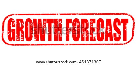 growth forecast stamp on white background. - stock photo