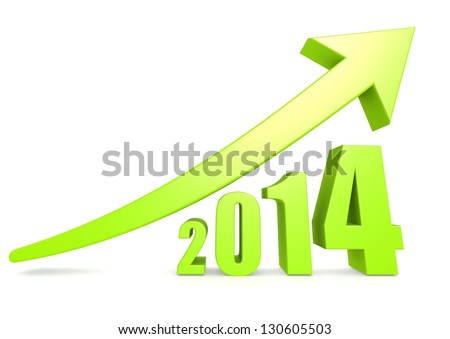 Growth of 2014 - stock photo
