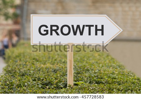 growth signpost - stock photo