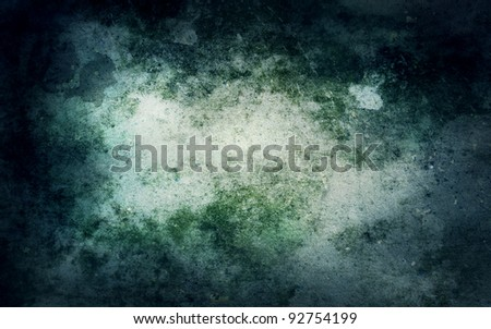 Grunge abstract background with mould stains over an old wall - stock photo