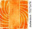 Grunge abstract orange background - stock photo