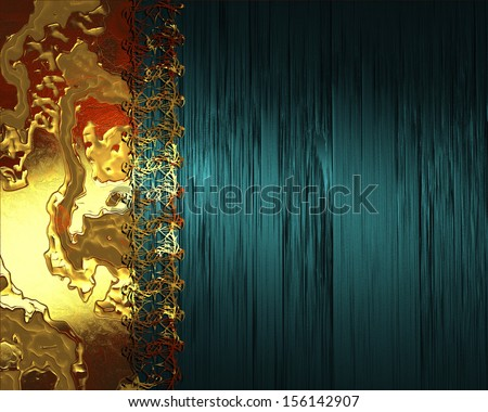 Grunge abstract orange background and blue background - stock photo