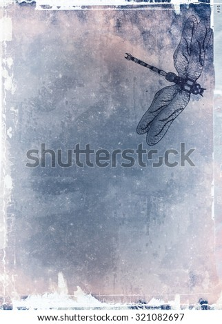 Grunge abstract textured mixed media collage, art background or texture with space for text - stock photo