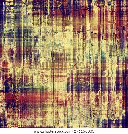 Grunge aging texture, art background. With different color patterns: yellow (beige); brown; purple (violet); blue - stock photo