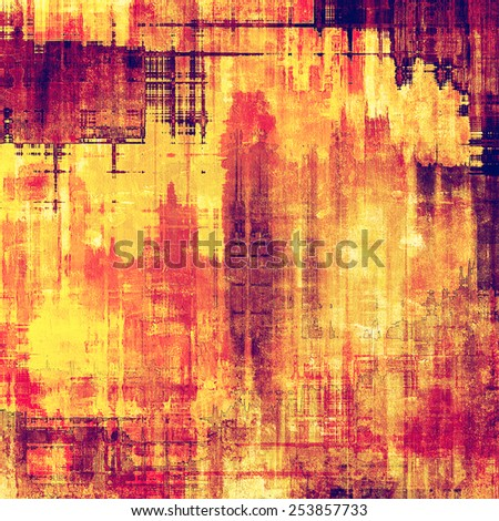 Grunge aging texture, art background. With different color patterns: yellow (beige); red (orange); purple (violet); pink - stock photo