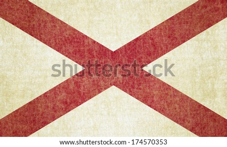 Grunge Alabama state Flag - stock photo